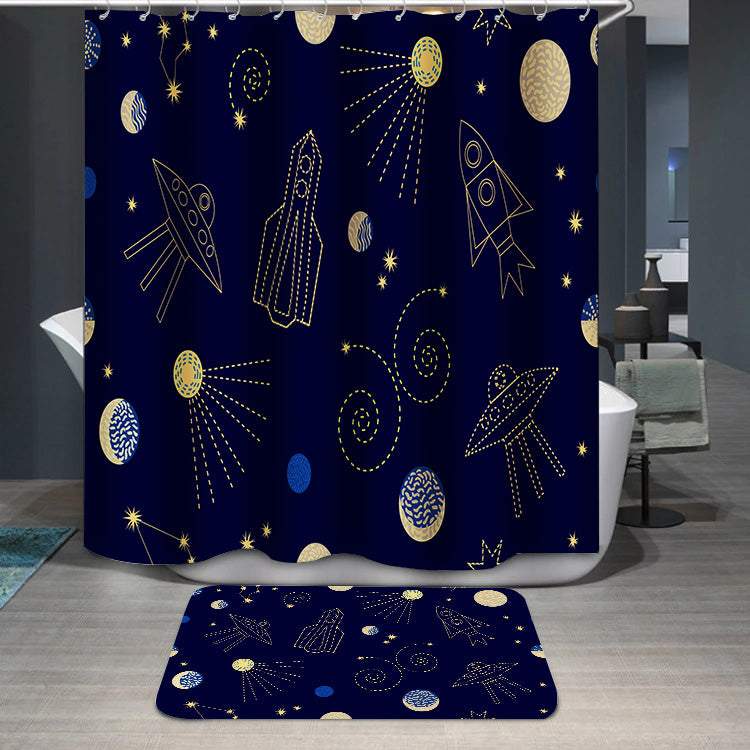 Night sky cartoon Shower Curtain