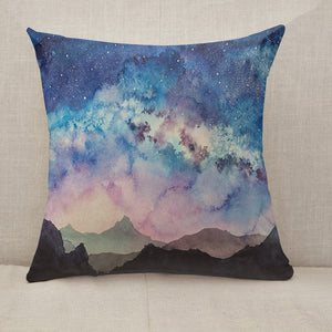 Milky way at starry sun rise Throw Pillow [With Inserts]