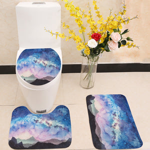 Milky way at starry sun rise 3 Piece Toilet Cover Set
