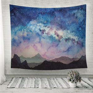 Milky way at starry sun rise Wall Tapestry