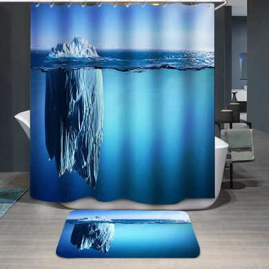 Iceberg Floating On Sea Shower Curtain