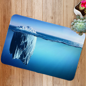 Iceberg Floating On Sea Bath Mat