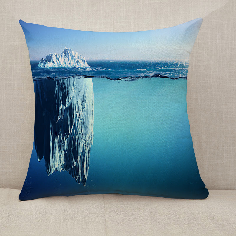 Iceberg Floating On Sea Throw Pillow [With Inserts]