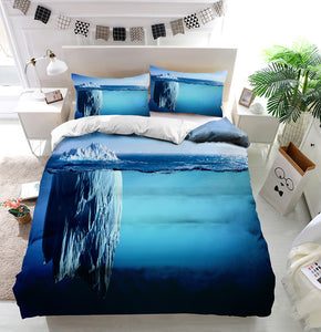Iceberg Floating On Sea Duvet Cover Bedding Set