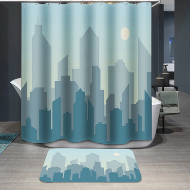 Morning city skyline Shower Curtain