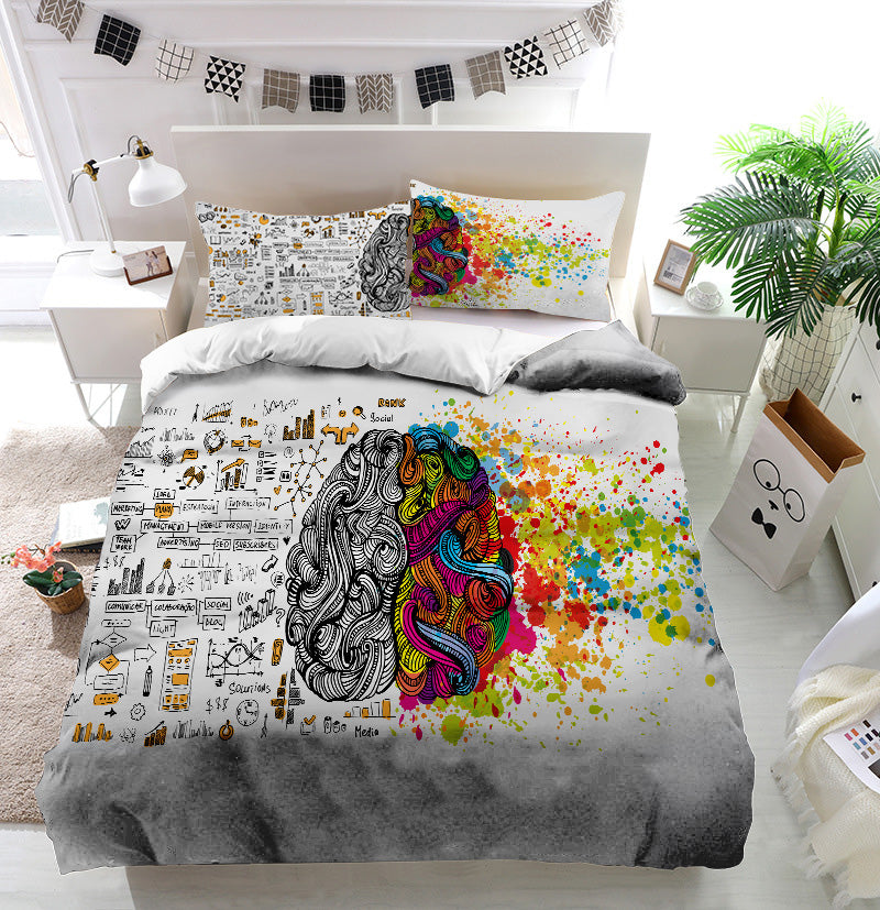 Creative and logic human mind Duvet Cover Bedding Set