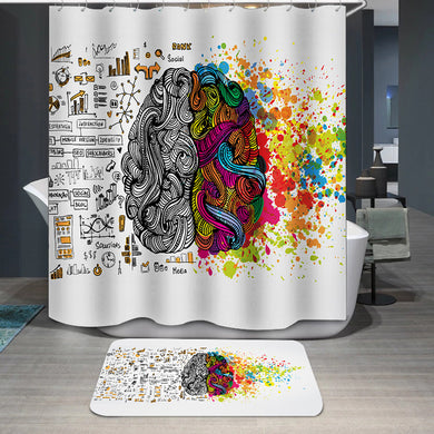 Creative and logic human mind Shower Curtain