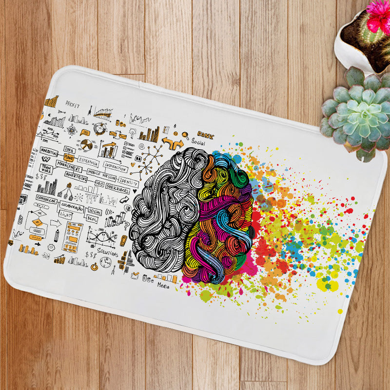 Creative and logic human mind Bath Mat