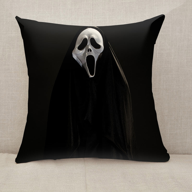 White ghost mask Throw Pillow [With Inserts]