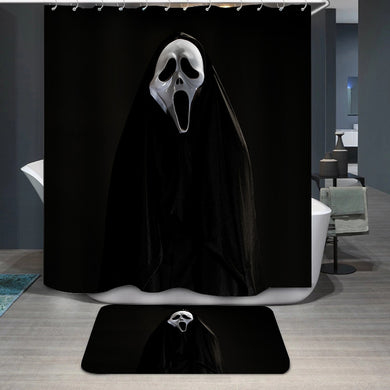 White ghost mask Shower Curtain