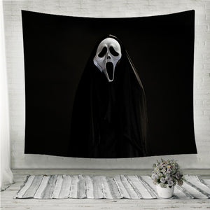 White ghost mask Wall Tapestry