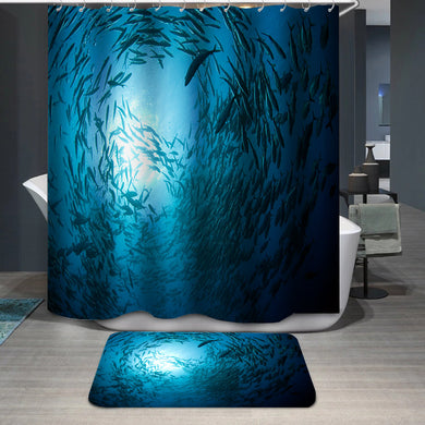 Fish in the ocean Shower Curtain