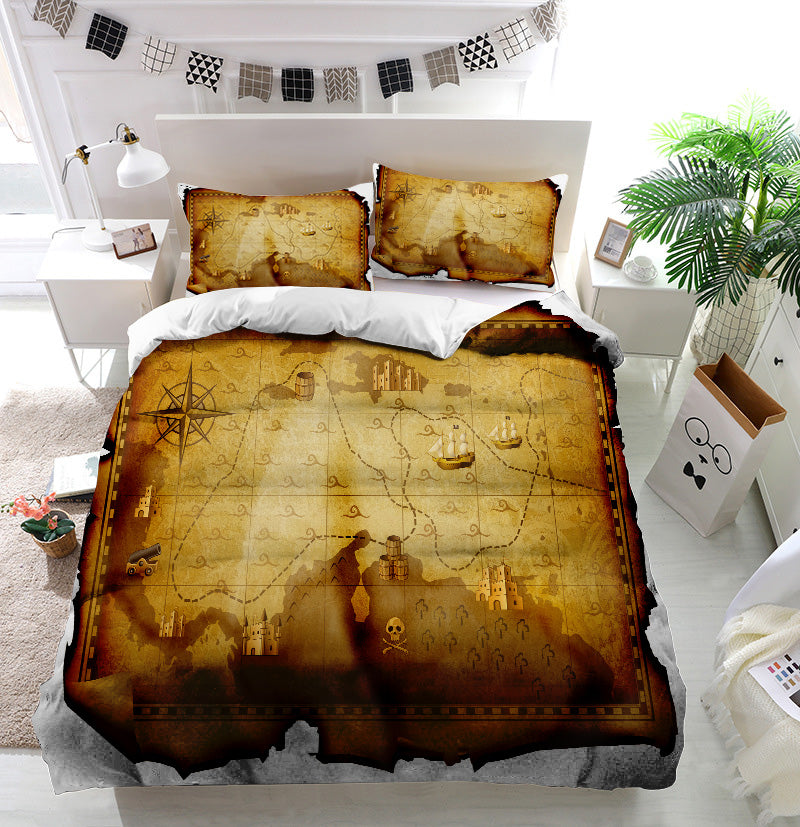 Treasure map Duvet Cover Bedding Set