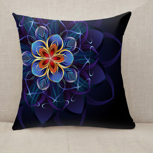 Abstract blue flower Throw Pillow [With Inserts]