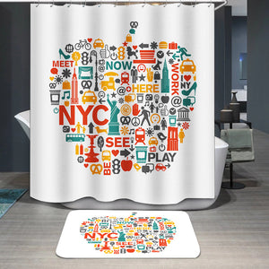 New York City icons and symbols Shower Curtain