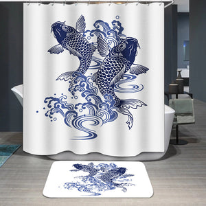 Japanese carp fish Shower Curtain