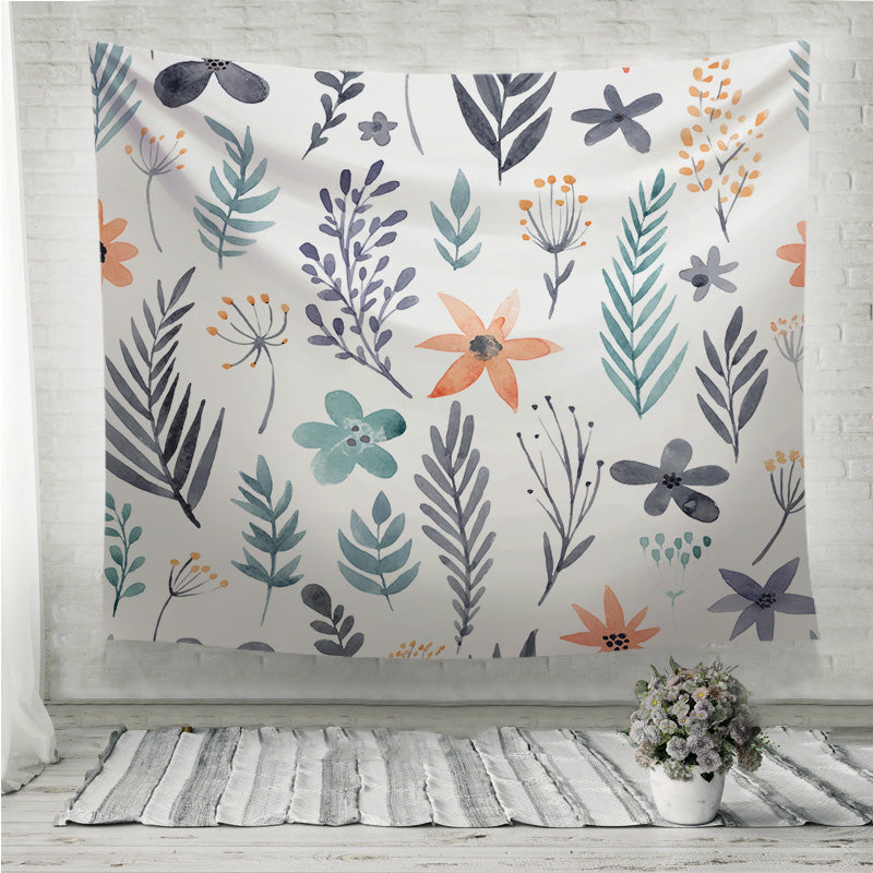 Watercolor Floral Seamless Pattern Wall Tapestry