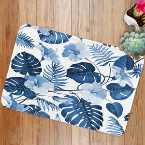 Topical palm leaves Bath Mat