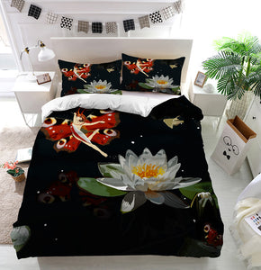 Butterfly elf lily Duvet Cover Bedding Set