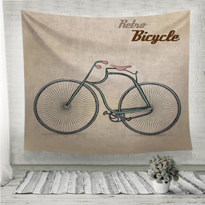 Vintage Retro Bicycle Wall Tapestry