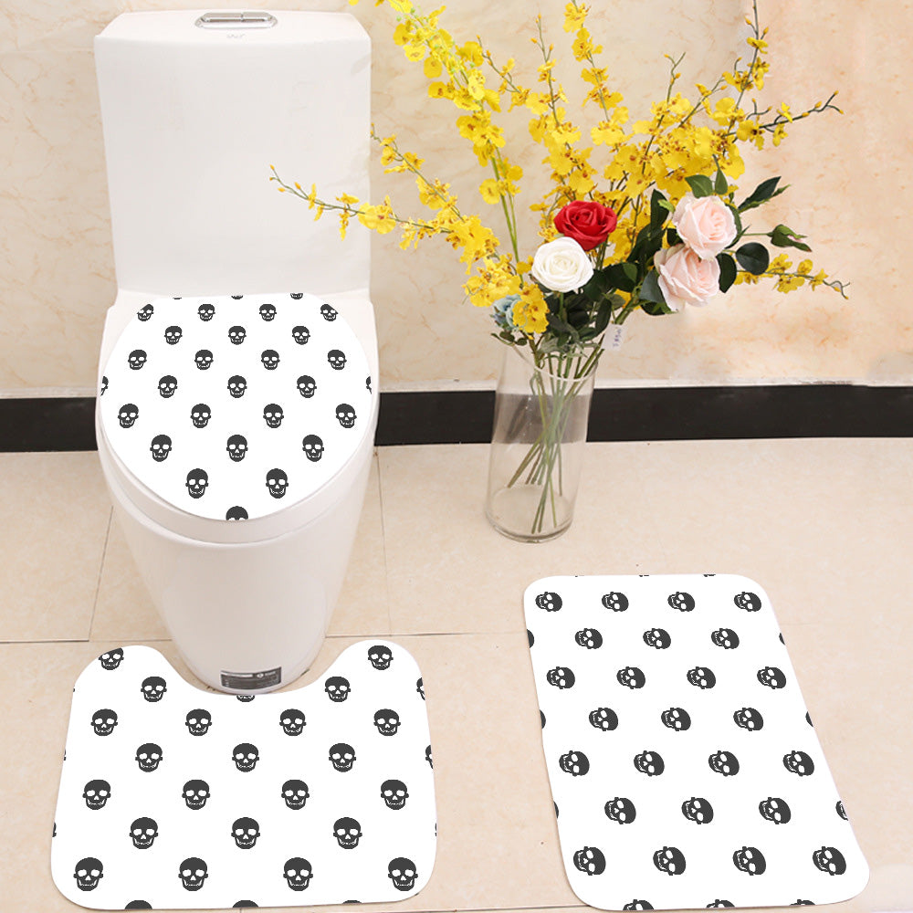 Skull pattern seamless 3 Piece Toilet Cover Set