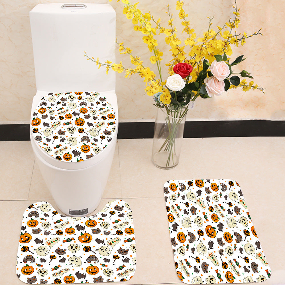 Seamless Halloween pattern 3 Piece Toilet Cover Set