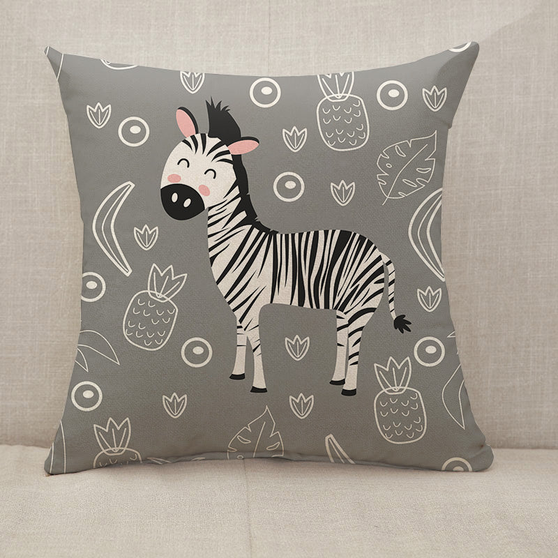 Zebra pineapples leaves Throw Pillow [With Inserts]