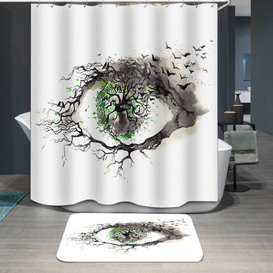 Nature through the eyes of a man Shower Curtain