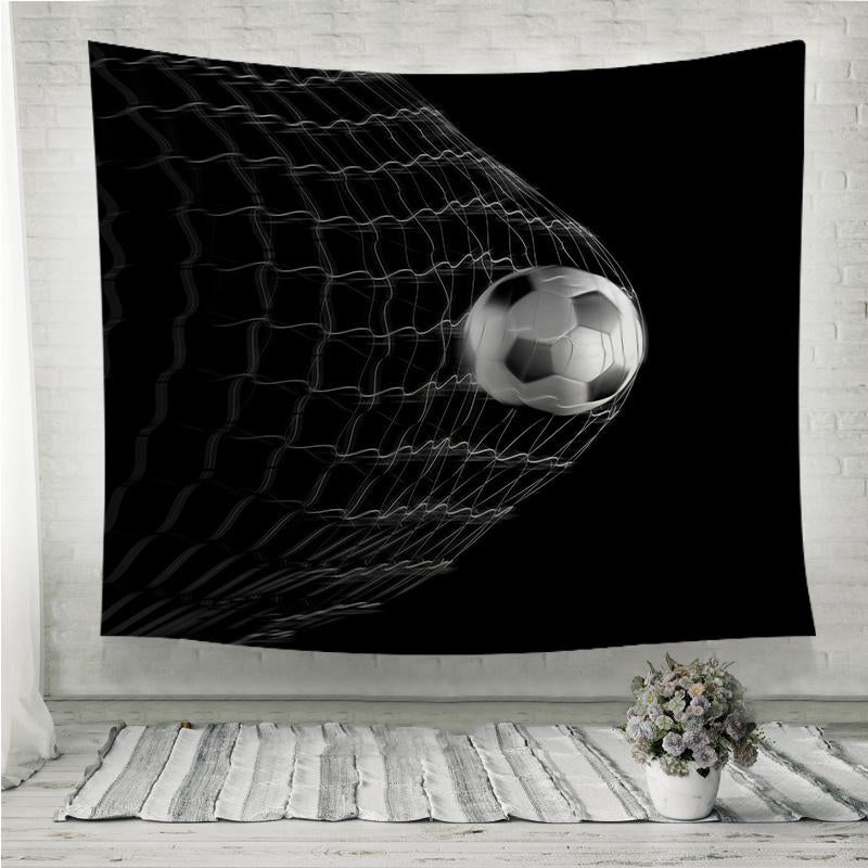 Goal World render Wall Tapestry