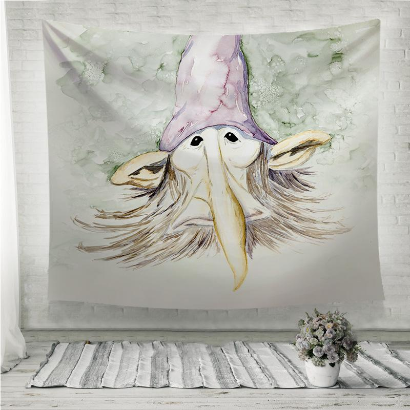 Gnome Portrait Wall Tapestry