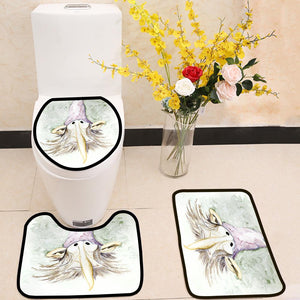 Gnome Portrait 3 Piece Toilet Cover Set