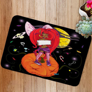 Little spiteful fairy Bath Mat