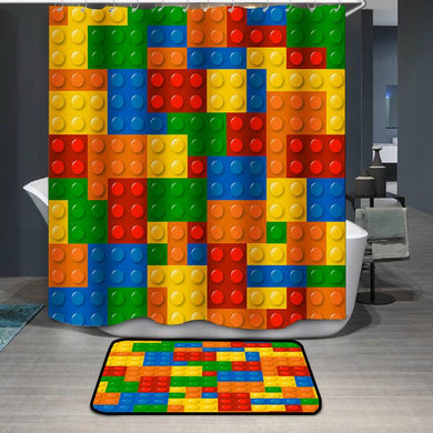 Lego Blocks Shower Curtain