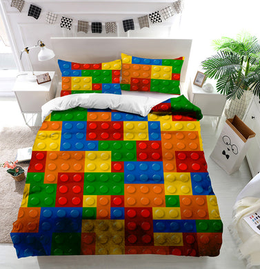 Lego Blocks Duvet Cover Bedding Set