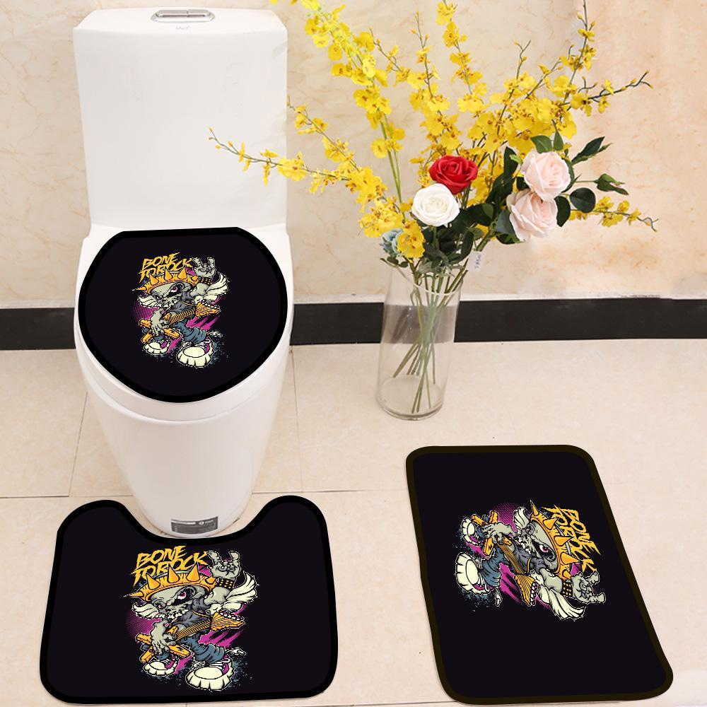 Rock Music 3 Piece Toilet Cover Set