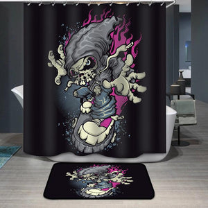 Skater Shower Curtain