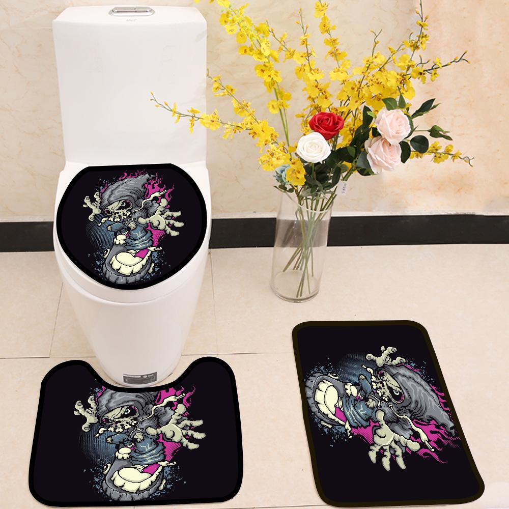Skater 3 Piece Toilet Cover Set