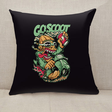 Scooter Throw Pillow [With Inserts]