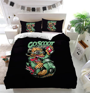 Scooter Duvet Cover Bedding Set