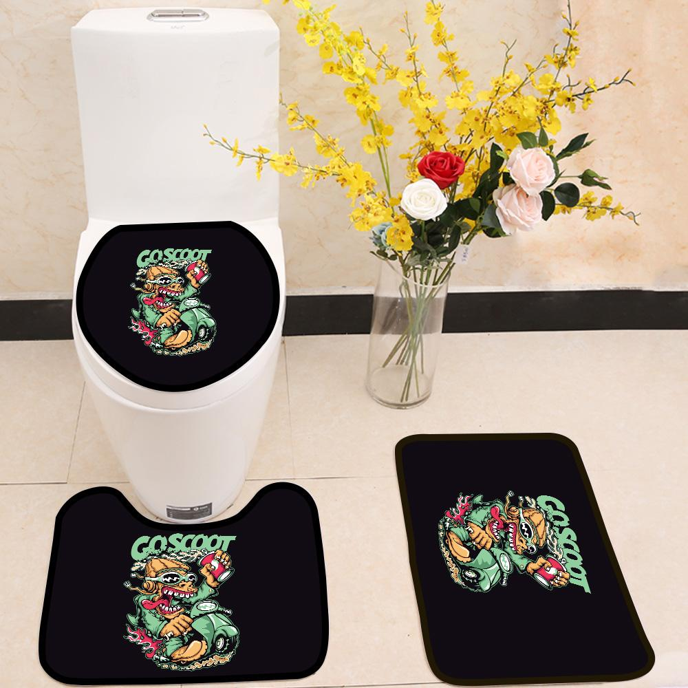 Scooter 3 Piece Toilet Cover Set