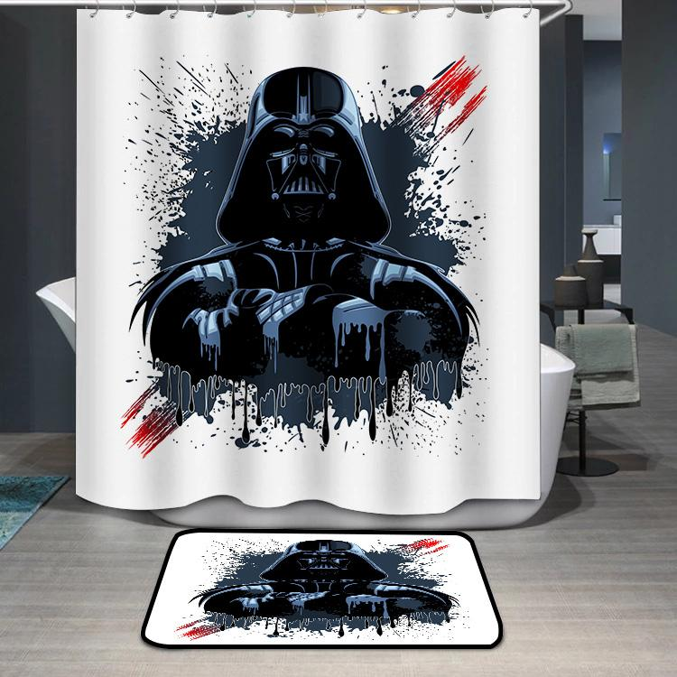Darth Vader Mask Shower Curtain