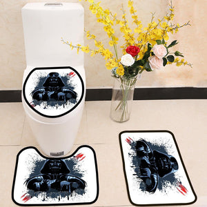Darth Vader Mask 3 Piece Toilet Cover Set