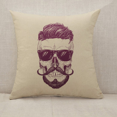 Hipster skull with sunglasses Throw Pillow [With Inserts]