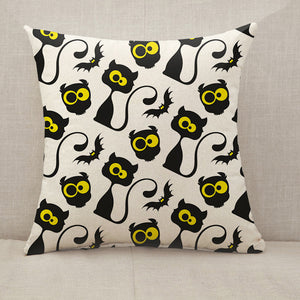 Black cats and owls Throw Pillow [With Inserts]