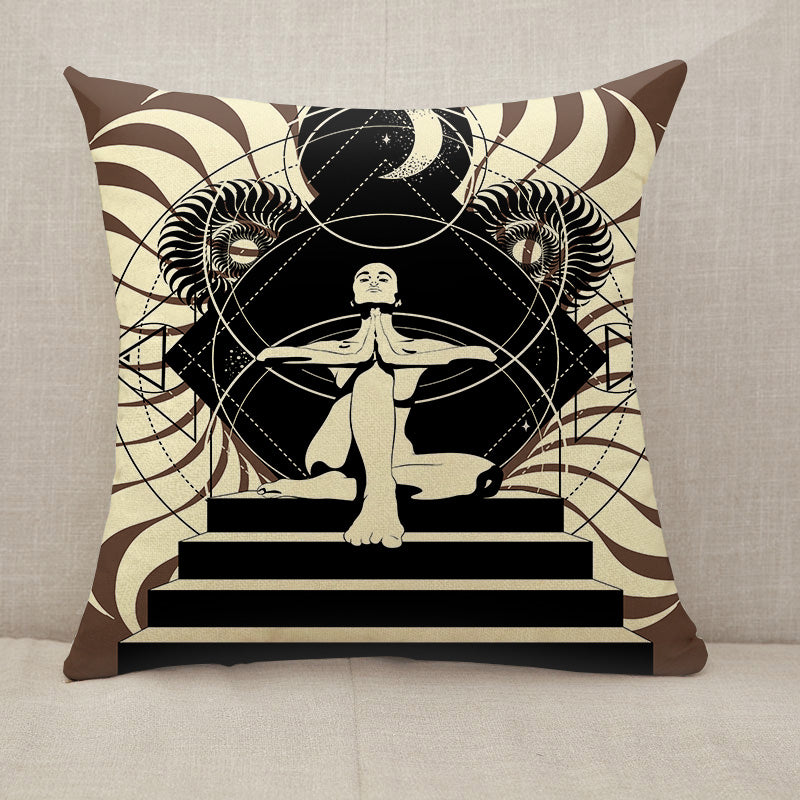 Woman in yoga pose Throw Pillow [With Inserts]