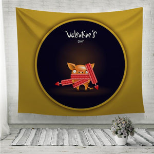 Valentine's day Wall Tapestry