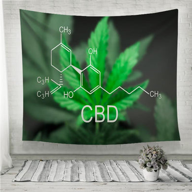 chemical formula CBD Wall Tapestry