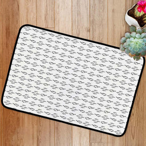 Sea fish sketch pattern Bath Mat