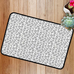 Abstract summer sun pattern Bath Mat
