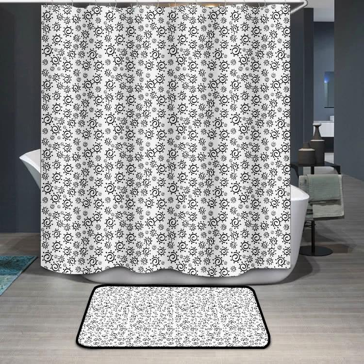 Abstract summer sun pattern Shower Curtain